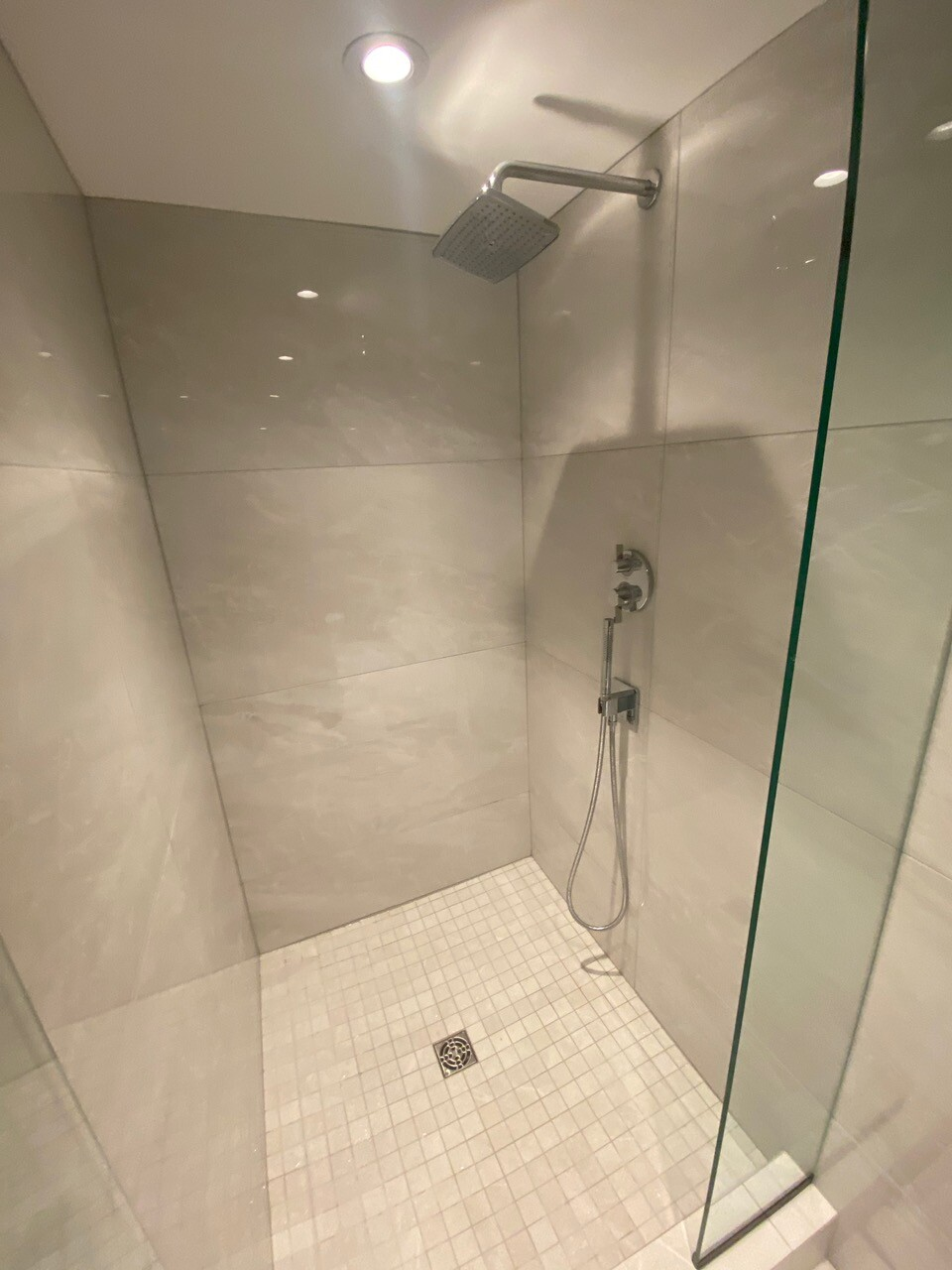 renovated modern shower by lee carter plumbing