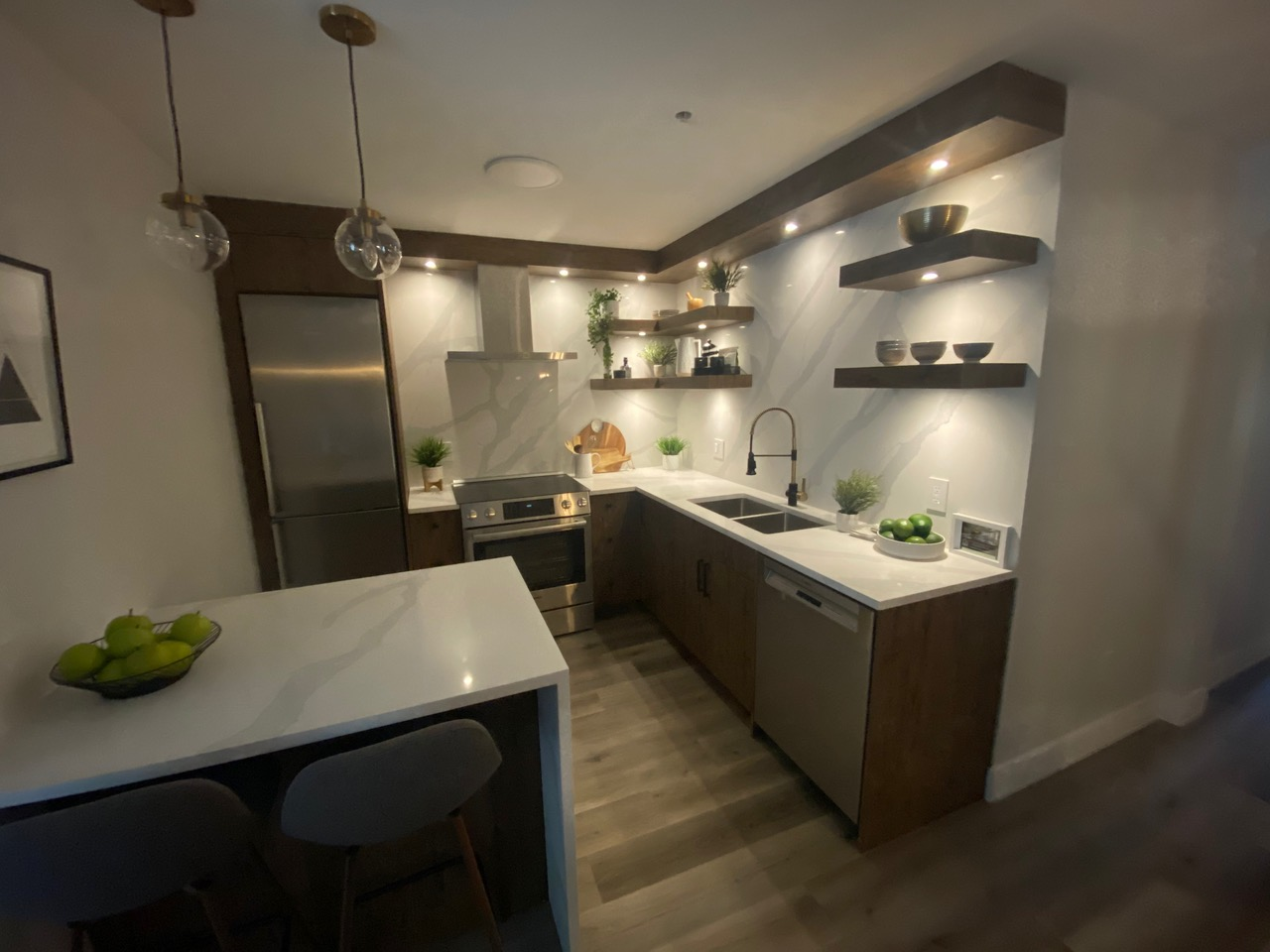 renovated kitchen by lee carter plumbing